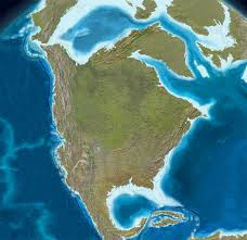 The global warming deniers forgot to mention that this is all that existed of North America in the Paleogene Period.