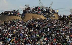 Striking miners shot down in Marikana, South Africa