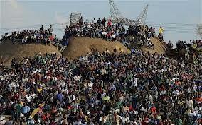 Striking miners shot down in Marikana, South Africa