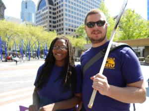 Amelia Vassar, candidate for president, SEIU Local 6 and Mike Ladd, candidate for executive board