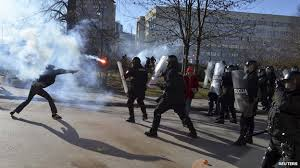 workers protest unemployment in Bosnia