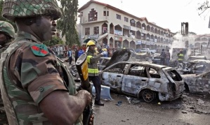 Aftermath of BH bomb attack in Abuja Last year, 8400 people in West Africa died from Ebola. In the same time period 10,340 died in northeast Nigeria in Boko Haram related violence and 1.5 million were displaced.