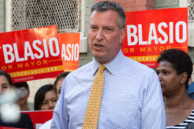 New York Mayor Bill de Blasio - a liberal Democrat