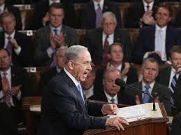 "Netanyahu speaking before US congress in 2002. At that time, he swore that Saddam Hussein was ""pursuing with abandon, with every ounce of effort, weapons of mass destruction including nuclear weapons … Saddam is hell-bent on achieving atomic bombs as fast as he can."" ""If you take out Saddam, Saddam's regime, I guarantee you it will have enormous positive reverberations around the region,"" he promised. We know how well that worked out."