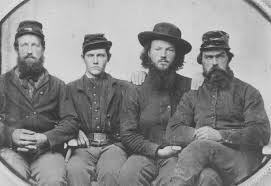 "A group of Kansas ""Jayhawkers."" Their open clashes with the pro slave militias led to the formation of the anti-slavery Republican Party."