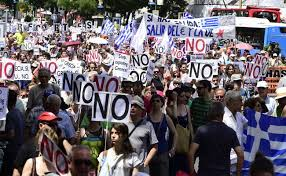 "Greeks rally for the ""no"" vote"