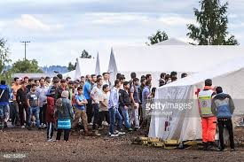 Refugee camp in Dresden, Germany