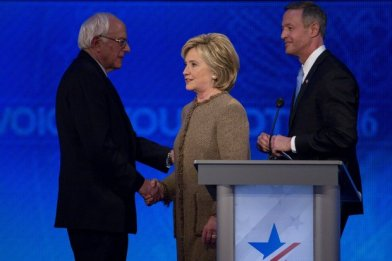 "Sanders, Clinton and O'Malley at ""debate"". They were all in it together."