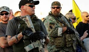 Right wing militias at the Malheur National Wildlife Refuge. There was a lot of talk about gun control, but none about controlling this gang of armed and dangerous thugs.