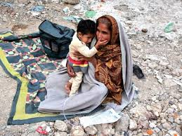 Karachi, Pakistan: This is the sort of conditions that forced Hassan to flee.