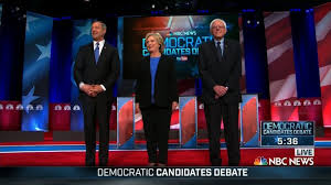 Candidates for the Democratic nomination. They may have some squabbles, but they're all one family.
