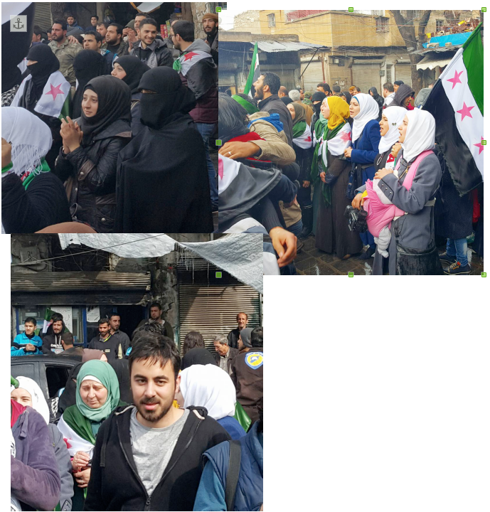 Syrians protesting against Assad, March 26, 2016