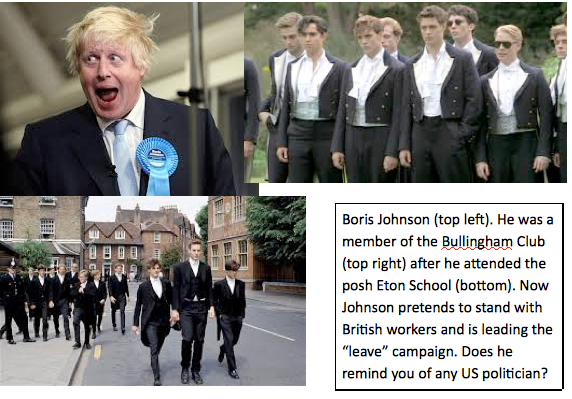Boris Johnson & background