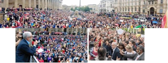 Jeremy Corbyn speaking to 10,000 in Liverpool