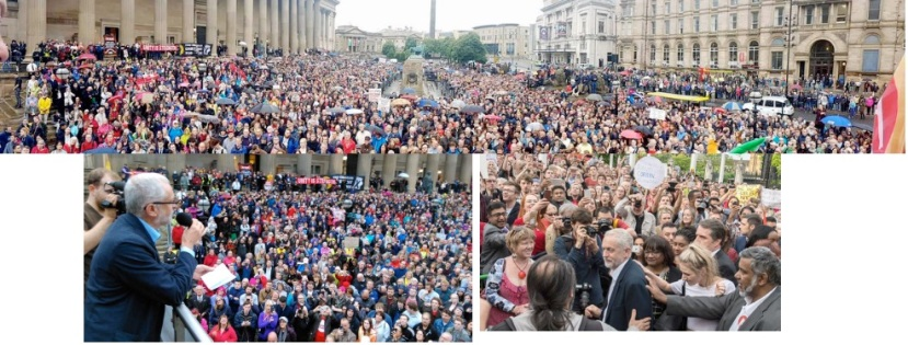 Jeremy Corbyn speaking to 10,000 in Liverpool