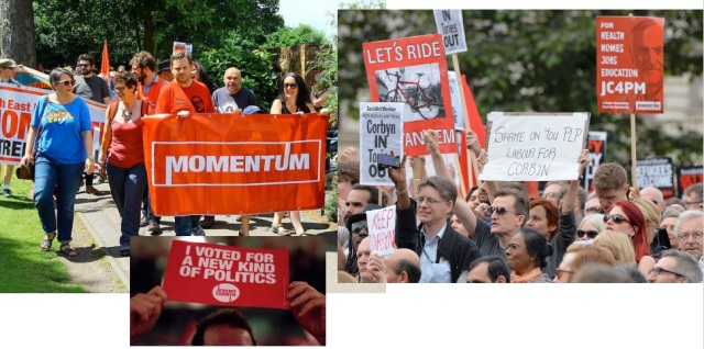 """Jeremy Corbyn has organized """"Momentum,"""" a grass roots campaign to transform the Labour Party. It is no accident that Sanders has not done anything of the sort. Corbyn is the leader of a mass workers' party; Sanders is the leader of the liberal wing of a capitalist party."""