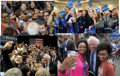 Bernie Sanders and his supporters. Will these Sanders supporters move from supporting an individual to building a political party that represents working class people?