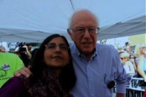 Kshama Sawant and Bernie Sanders