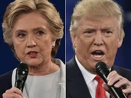 """Clinton and Trump """"debating"""""""