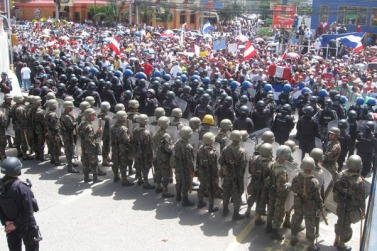 In 2009, the Honduras military carried out a coup with US government covert support. The US government will not help the Syrian people in any way.