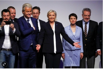 Leaders of the European far right racist, chauvinist parties meet in Germany and celebrate the taking of power by Trump in the US.