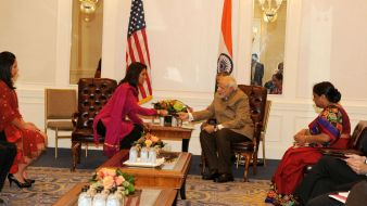 Gabbard with Narendra Modi